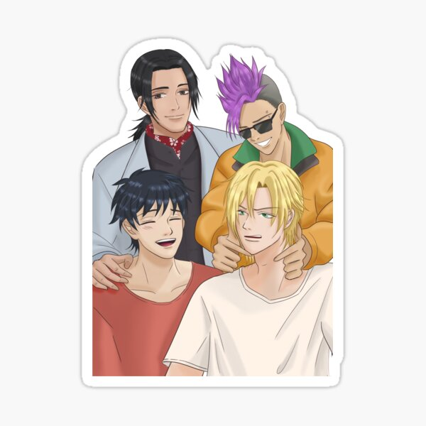 Banana Fish Family Sticker