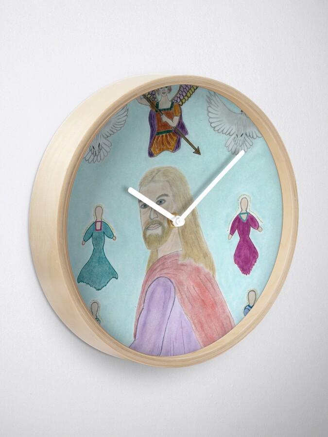 Alternate view of A Portrait of Jesus Clock