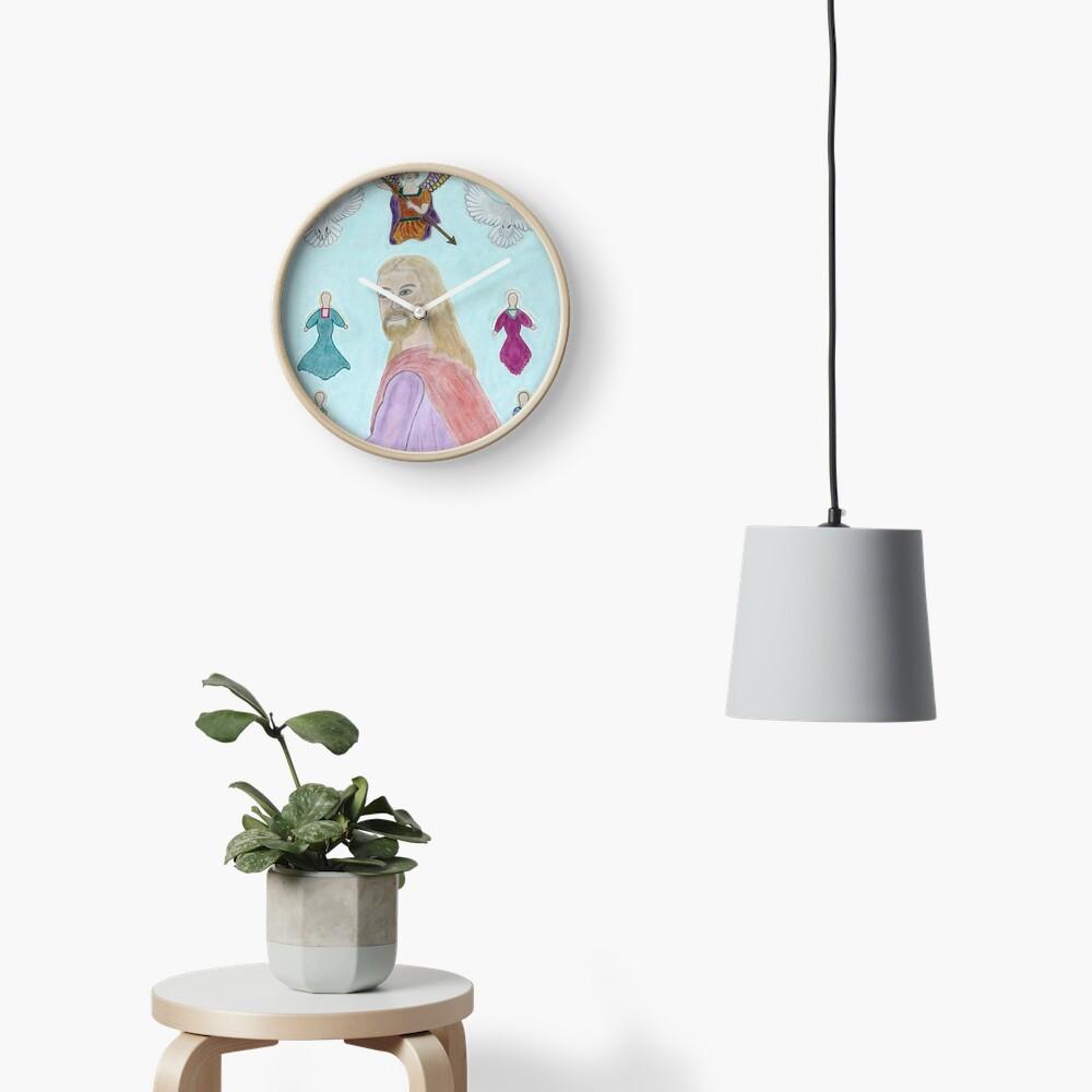 A Portrait of Jesus Clock