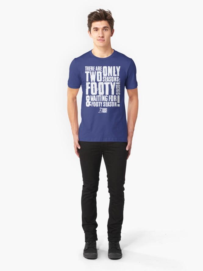 Alternate view of Two Seasons: Kangaroos Slim Fit T-Shirt
