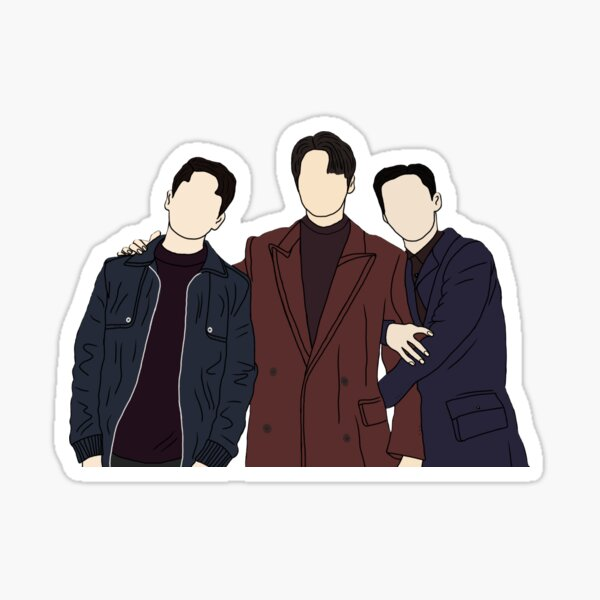 The King: Eternal Monarch (KDRAMA) - Lee Gon, Jo Yeong and Kang Sin jae Sticker