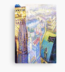 Paris Shadow Notre Dame de Paris Canvas Print