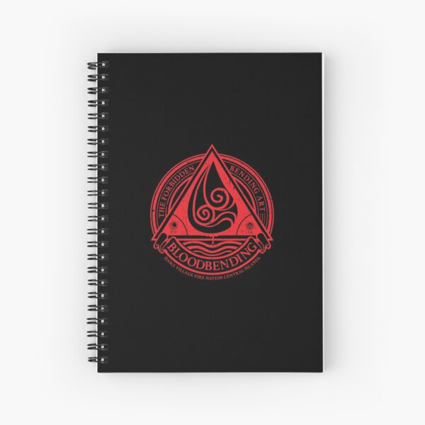 ATLA Bloodbending, Avatar The Last Airbender-Inspired Design Spiral Notebook