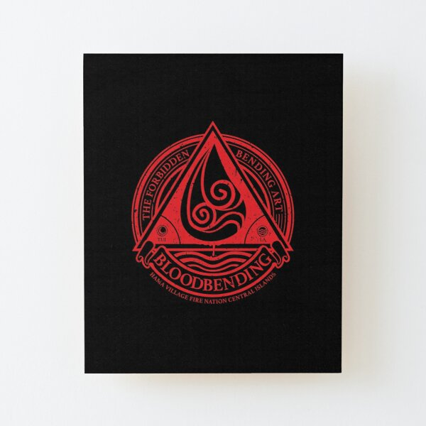 ATLA Bloodbending, Avatar The Last Airbender-Inspired Design Wood Mounted Print