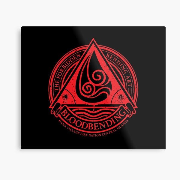 ATLA Bloodbending, Avatar The Last Airbender-Inspired Design Metal Print