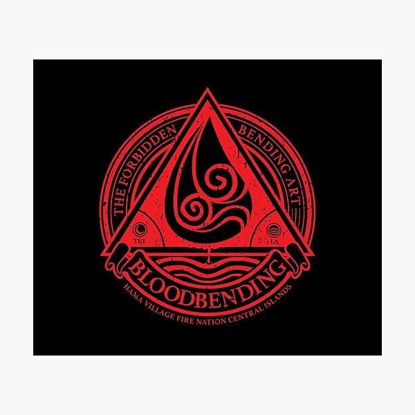 ATLA Bloodbending, Avatar The Last Airbender-Inspired Design Photographic Print