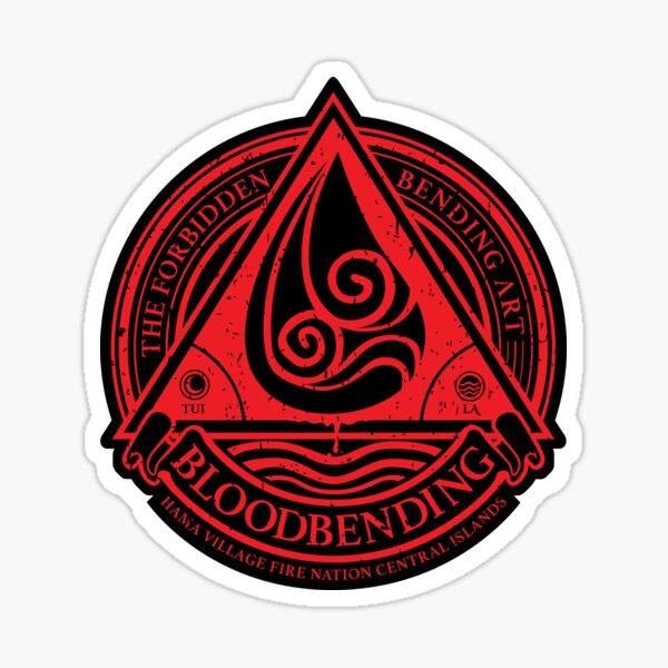 ATLA Bloodbending, Avatar The Last Airbender-Inspired Design Sticker