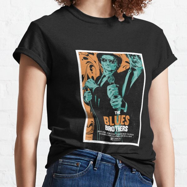 The Blue Brothers Illustrated Movie Poster Classic T-Shirt