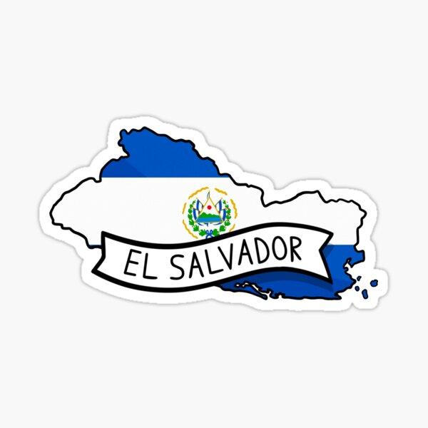 Pegatina Mapa de la bandera de El Salvador Pegatina