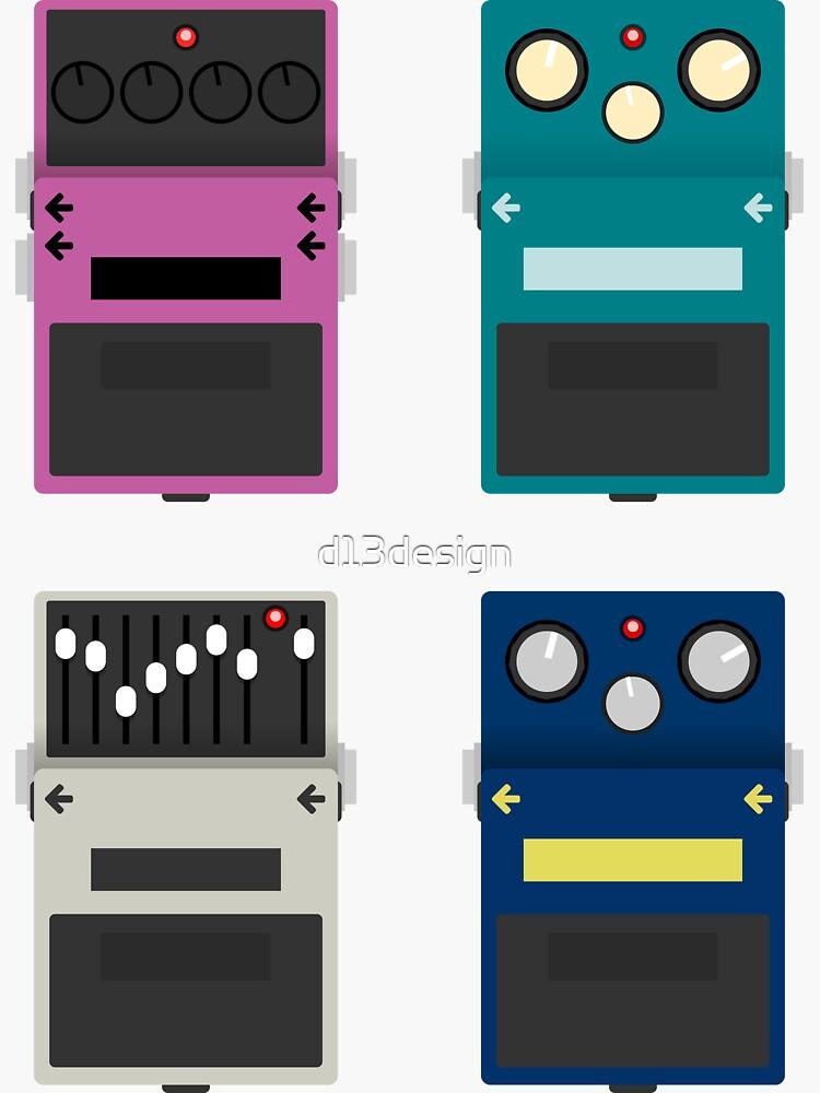 Guitar Pedals - Set #2 by d13design