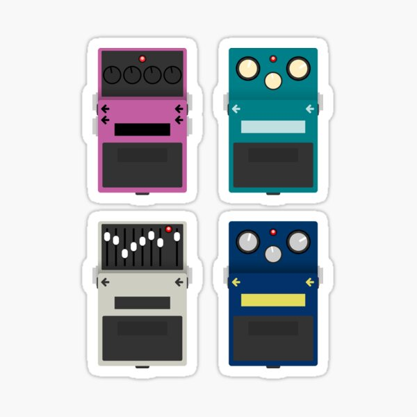 Guitar Pedals - Set #2 Sticker