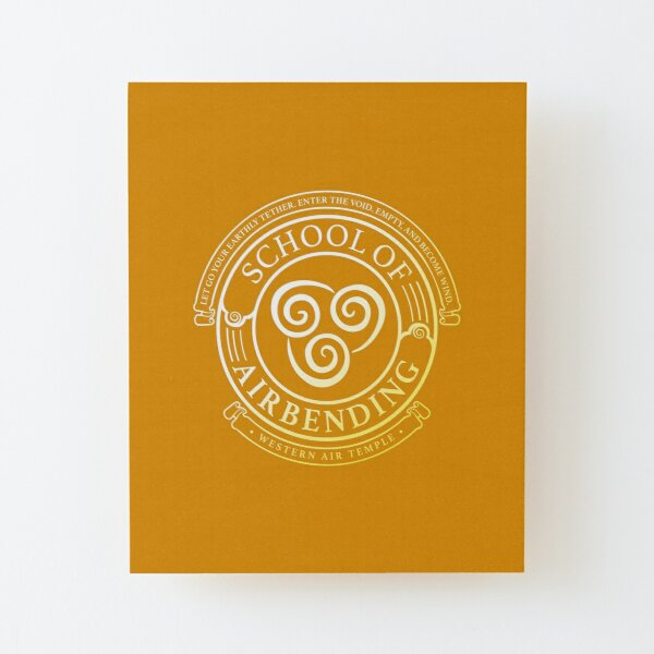 Avatar School of Airbending, Avatar-Inspired Design Wood Mounted Print