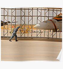 Parking an F/A 18 Jet Poster