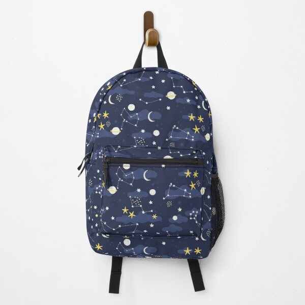 Galaxy - cosmos, moon and stars. Astronomy pattern. Cute cartoon universe design. Backpack