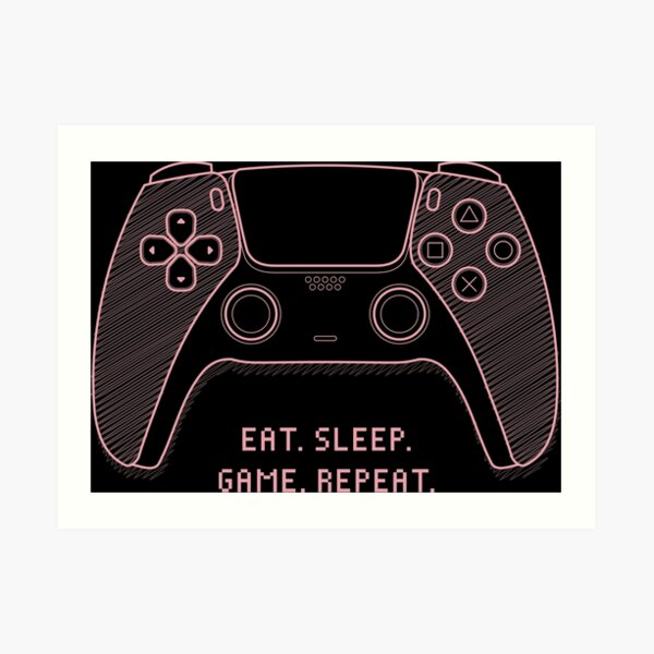 PS5 PlayStation 5 Gamer Print Gamer Poster Next Gen controller Can i just finish this level