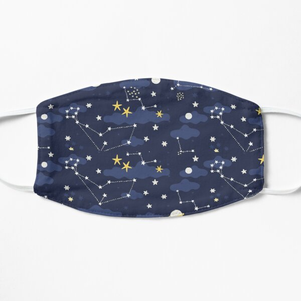 Galaxy - cosmos, moon and stars. Astronomy pattern. Cute cartoon universe design. Mask
