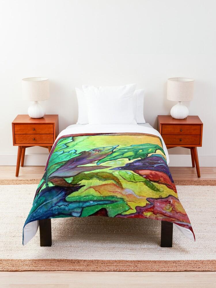 Alternate view of Colours of Sunshine - Leaves  Comforter