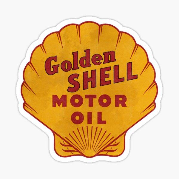 Golden Shell vintage logo Sticker