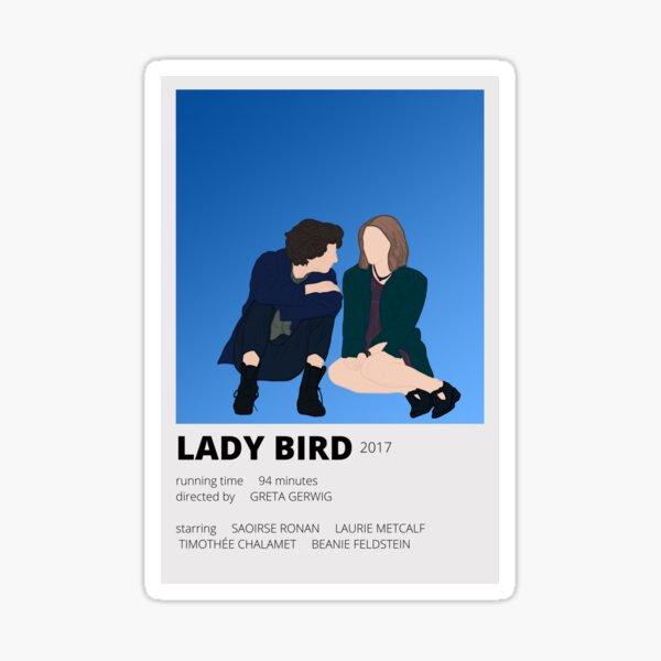 lady bird minimalist sticker Sticker