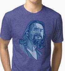 The Dude blue Tri-blend T-Shirt