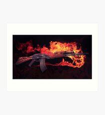 CSGO Pistolenserie | AK-47 FEUER Kunstdruck