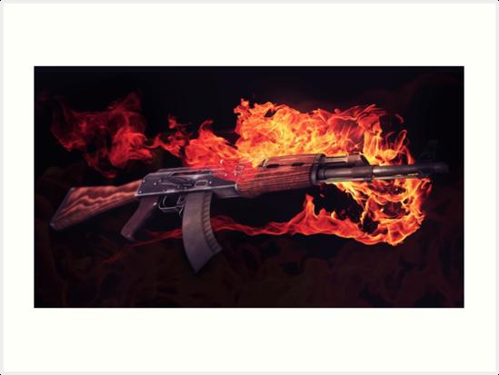 CSGO Gun Series | AK-47 FIRE by archanor