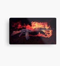 CSGO Pistolenserie | AK-47 FEUER Metalldruck