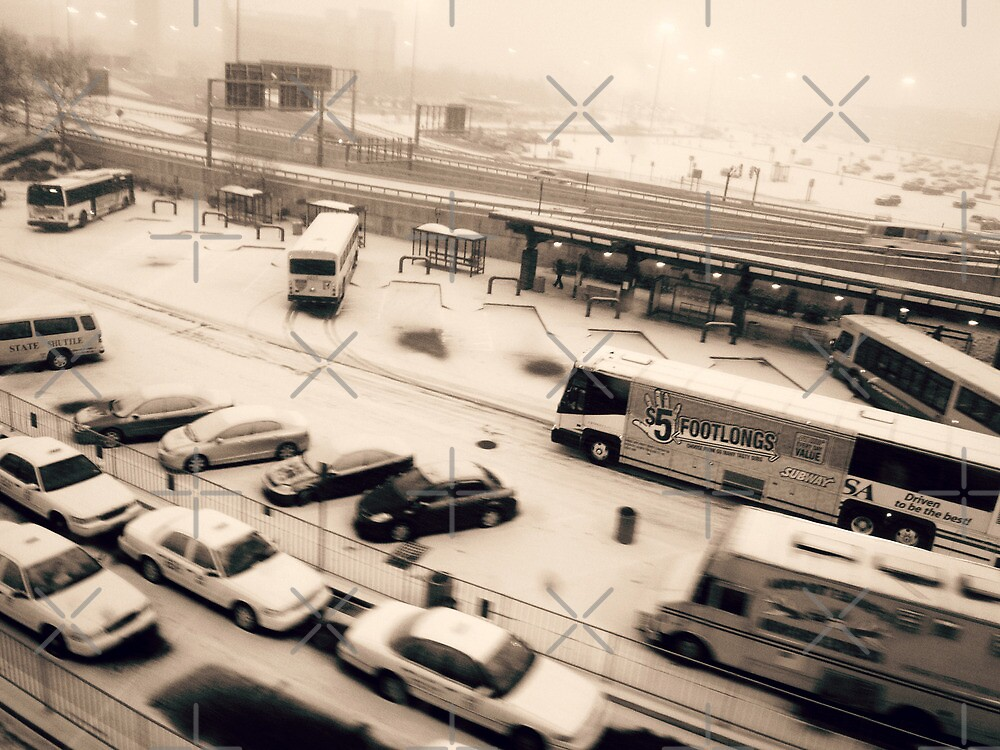Footlong Buses, in B&W ( Street Shots )  by emiliewho