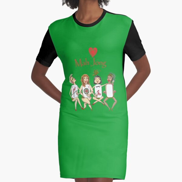 Mah Jong Cheeky ladies No 2 Graphic T-Shirt Dress