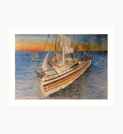 Becalmed Art Print
