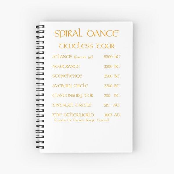 SDWorldTour_orange Spiral Notebook