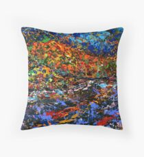 The River by Florida Artist John E Metcalfe Throw Pillow