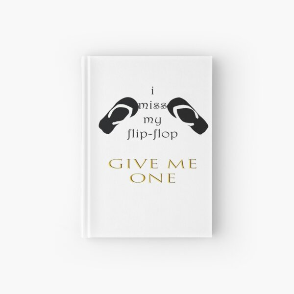 flip-flop gift day Hardcover Journal