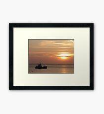 Sunset on the Isle of Arran  Framed Print