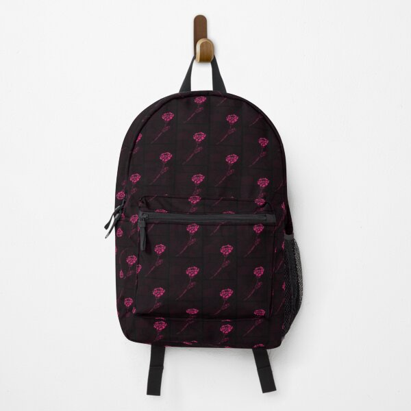 Stained Glass Rose - Dark Pink Backpack