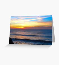 Bude sunset on the Cliffs Greeting Card