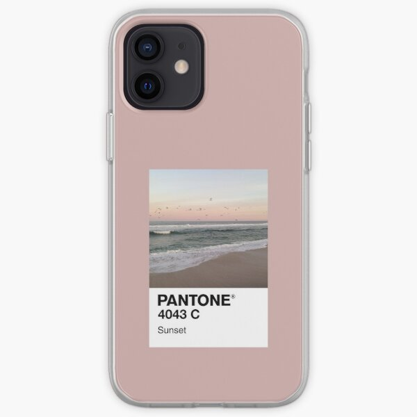 Atardecer Pantone Funda blanda para iPhone