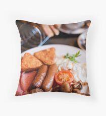 Irish Breakfast Throw Pillow