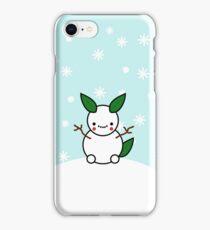 Snowman Pikachu Pokemon Card iPhone Case/Skin