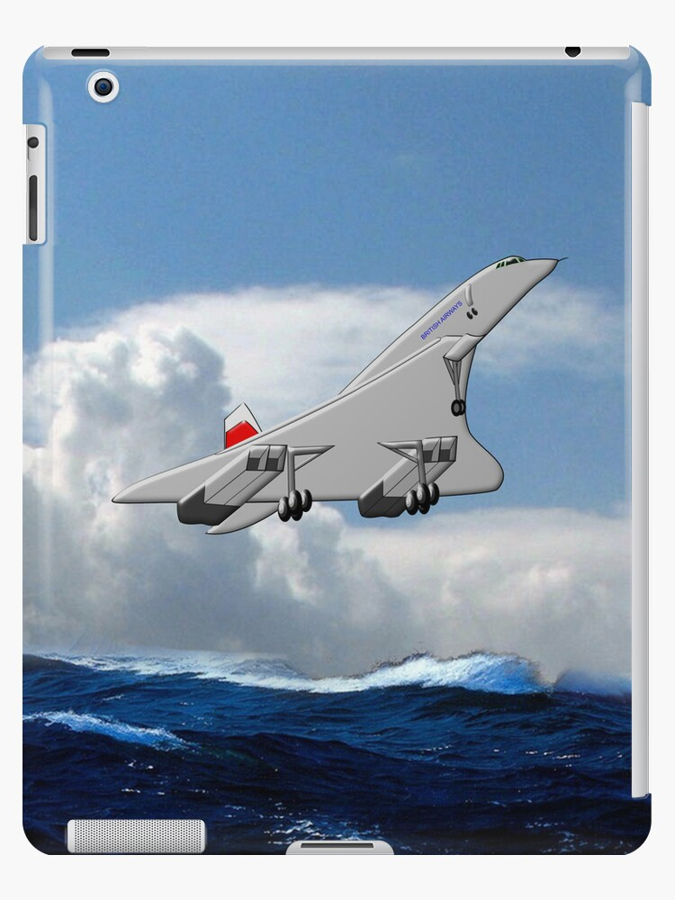 Concorde the Supersonic Airliner iPad case by Dennis Melling