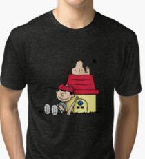 Earthbrown: A Boy and his Saturn 2.0 Tri-blend T-Shirt