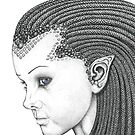Euryale - Gorgon with Garter Snakes for hair (Face) by Paul Stratton