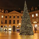 Christmas on Place Vendome, Paris by Elena Skvortsova