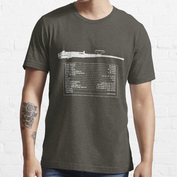 TM M2 Machine Gun, Browning .50 Caliber Machine Gun Essential T-Shirt