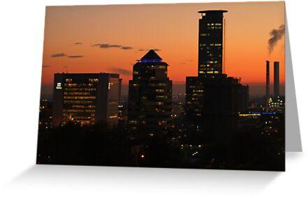 Brescia at sunset by annalisa bianchetti