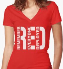 RED - Red on Fridays Women's Fitted V-Neck T-Shirt