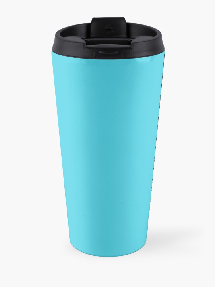 Alternate view of Hustle for that muscle in black and blue Travel Mug