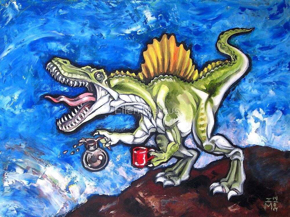 Caffeinosaurus And Water by Ellen Marcus