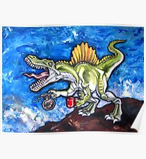 Caffeinosaurus And Water Poster