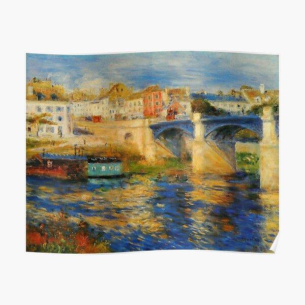 Bridge at Chatou, by Pierre-Auguste Renoir Poster